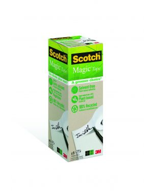 Pack 9 rotoli scotch® magic™ 900 19x33 invisibile ecologico 91576 4046719270729 91576_57797 by Scotch