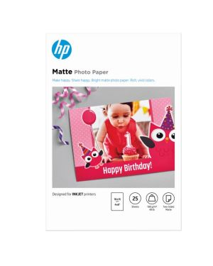 Hp matte fsc photo paper 4x6 25 HP Inc 7HF70A 193905314706 7HF70A