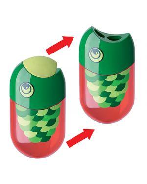 Temperamatite faber 2 fori il pesce con gomma e contenitore FABER CASTELL 183525 4005400991671 183525_59816