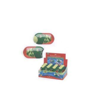 Temperamatite pesce 2 fori c/contenitore faber castell Confezione da 5 pezzi 183525_59816