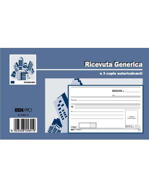 Blocco ricevute generiche 33fogli 3 copie autoric. 9,9x17 e5564ct E5564CT 62627 A E5564CT_62627