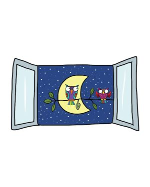 Adesivi murali removibili - night view - size m 33,5x42 wallskin BA-K447M 8025133027757 BA-K447M_500402