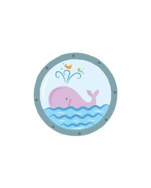Adesivi murali removibili   pink whale   size s 23x28 wallskin BA-K418S_500405