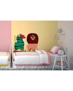 Adesivi murali removibili - zebra - lion - size xl wallskin CF-K313XL 8050040552696 CF-K313XL_75881