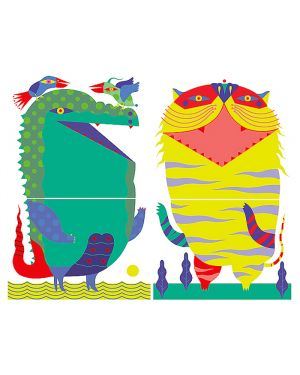 Adesivi murali removibili - crocodile - tiger - size l wallskin CF-K311L 8050040552634 CF-K311L_75882