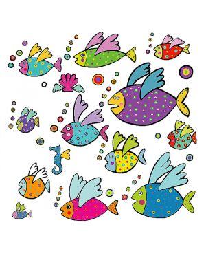 Adesivi murali removibili - flying fishes - size l wallskin BA-K416L 8050040551712 BA-K416L_75886