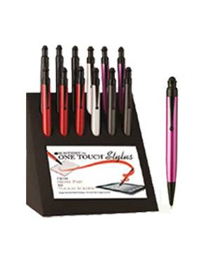 Display 12 penne sfera one touch stylus col. assortiti monteverde J100105  J100105_76010 by Esselte