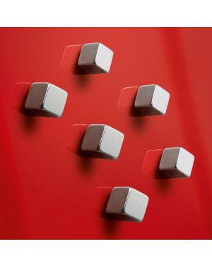 Blister 6 magneti superdym c5 strong silver sigel RGL192 4004360843310 RGL192_76267 by Sigel