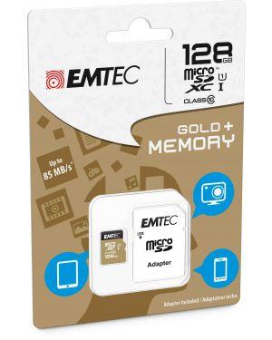 Micro sdxc emtec 128gb class 10 gold + con adattatore ECMSDM128GXC10GP 3126170142283 ECMSDM128GXC10GP_EMTM128GXC10GP by Emtec