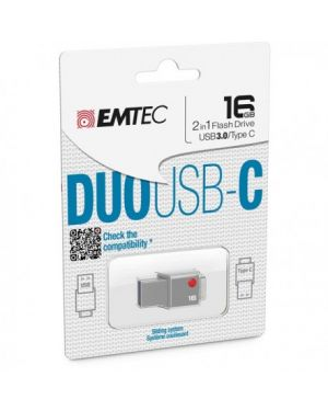 Usb emtec 3.0 duo usb-c t400 16gb ECMMD16GT403 3126170139498 ECMMD16GT403_EMTMD16GT403 by Emtec
