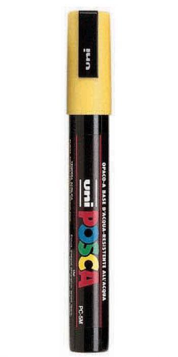 Marcatore uni posca pc5m p.media 1,8-2,5mm giallo uni mitsubishi M PC5M G 4902778916162 M PC5M G_36652 by Uni Mitsubishi