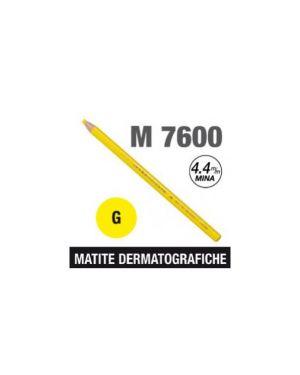 Matita dermotografica 7600 giallo uni mitsubishi CONFEZIONE DA 12 M 7600 G_44803