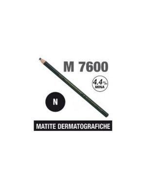Matita dermotografica 7600 nero uni mitsubishi CONFEZIONE DA 12 M 7600 N_46724