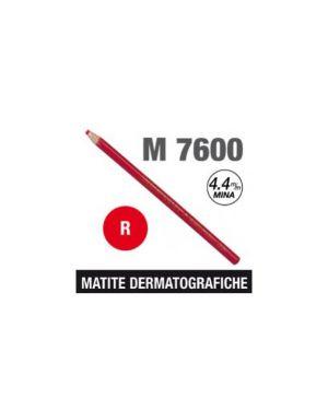 Matita dermotografica 7600 rosso uni mitsubishi CONFEZIONE DA 12 M 7600 R_46986
