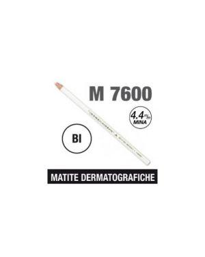 Matita dermotografica 7600 bianco uni mitsubishi CONFEZIONE DA 12 M 7600 BI_52078