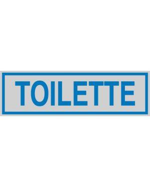 Targhetta adesiva 165x50mm toilette 96662 77186 A 96662_77186 by Cartelli Segnalatori