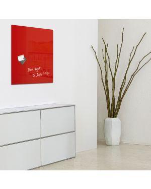 Lavagna magnetica in vetro 48x48cm rosso artverum® sigel RGL114 4004360887703 RGL114_74491