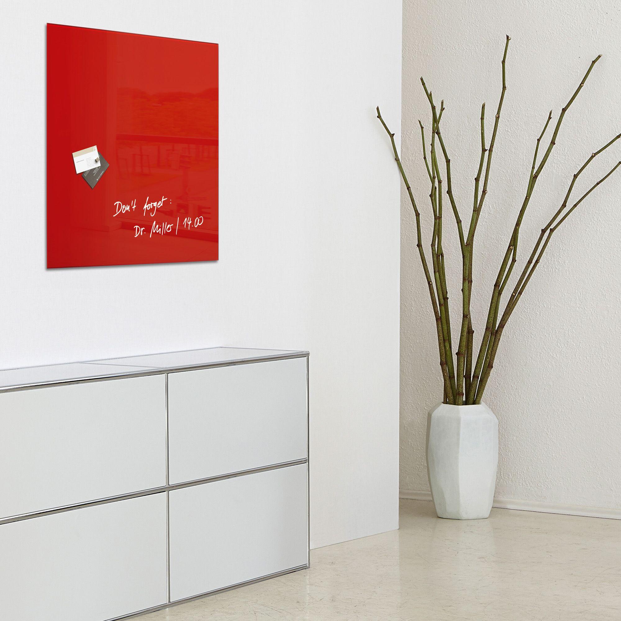 Vernice Lavagna Magnetica Colorata lavagna magnetica in vetro 48x48cm rosso artverum® sigel rgl114  4004360887703