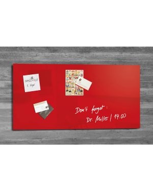 Lavagna magnetica in vetro 46x91cm rosso artverum® sigel RGL147  RGL147_74496