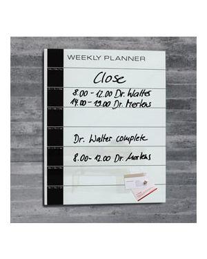 Planner settimanale in vetro 50x40cm bianco artverum® sigel RGL152_74502