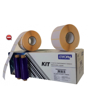 Kit completo 3rt etichette 100x74 + 2rt ribbon per stampante ttr K100X074X050R2_74871