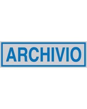 Targhetta adesiva 165x50mm archivio 96689 77180 A 96689_77180