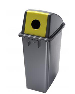 Contenitore office 60lt + coperchio giallo con foro per bottiglie 114216 8033433777425 114216_76496