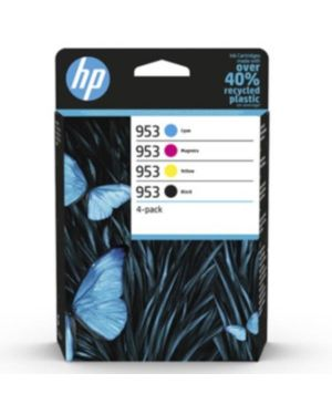 Hp 953 cmyk original ink 4-pack HP Inc 6ZC69AE#301 195122352202 6ZC69AE#301