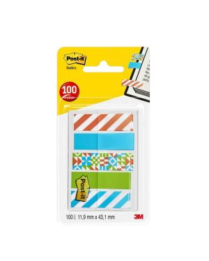 Dispenser 100 segnapagina post-it index mini 684 mm.12x43,6 geometrica POST-IT 5139 04054596003866 5139_77391 by Post-it