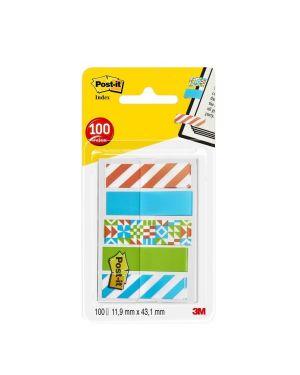 Dispenser 100 segnapagina post it index mini 684 mm.12x43,6 geometrica 5139_77391