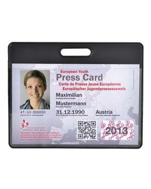 Hidentity® badge 95x75mm per badge/pass nero exacompta CONFEZIONE DA 10 5403E_77466 by Esselte