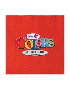 50 tovaglioli carta 33x33cm 2 veli rosso dopla 18312 8008650435144 18312_57428