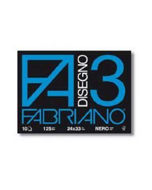 Confezione da 10 album Fabriano 3 nero (240mm x 330mm) 10 fogli 125gr Cod. 04001017 04001017_76606