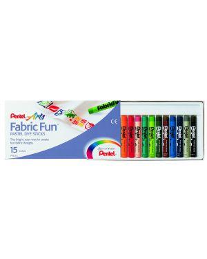 Astuccio 15 pastelli per tessuto fabric fun pentel PTS-15 4711577000152 PTS-15_76610 by Pentel