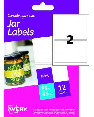 Etichetta adesiva hjj01 carta glossy 6fg a6 64x95mm (2et/fg) inkjet avery HJJ01_77513