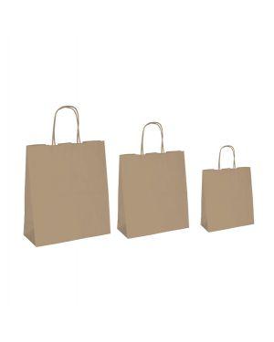 25 shoppers carta biokraft 22x10x29cm neutro cordino avana 067044_77525 by Cartabianca