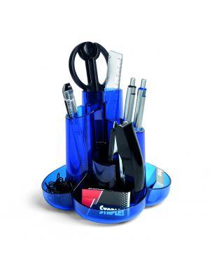 Desk set c - accessori blu traslucido 60571 niji 60571 8002787605715 60571_77627 by Niji Italiana