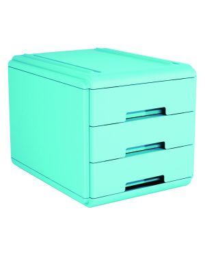 Mini cassettiera 3 cass. azzurro arda 19P3PBL_77659