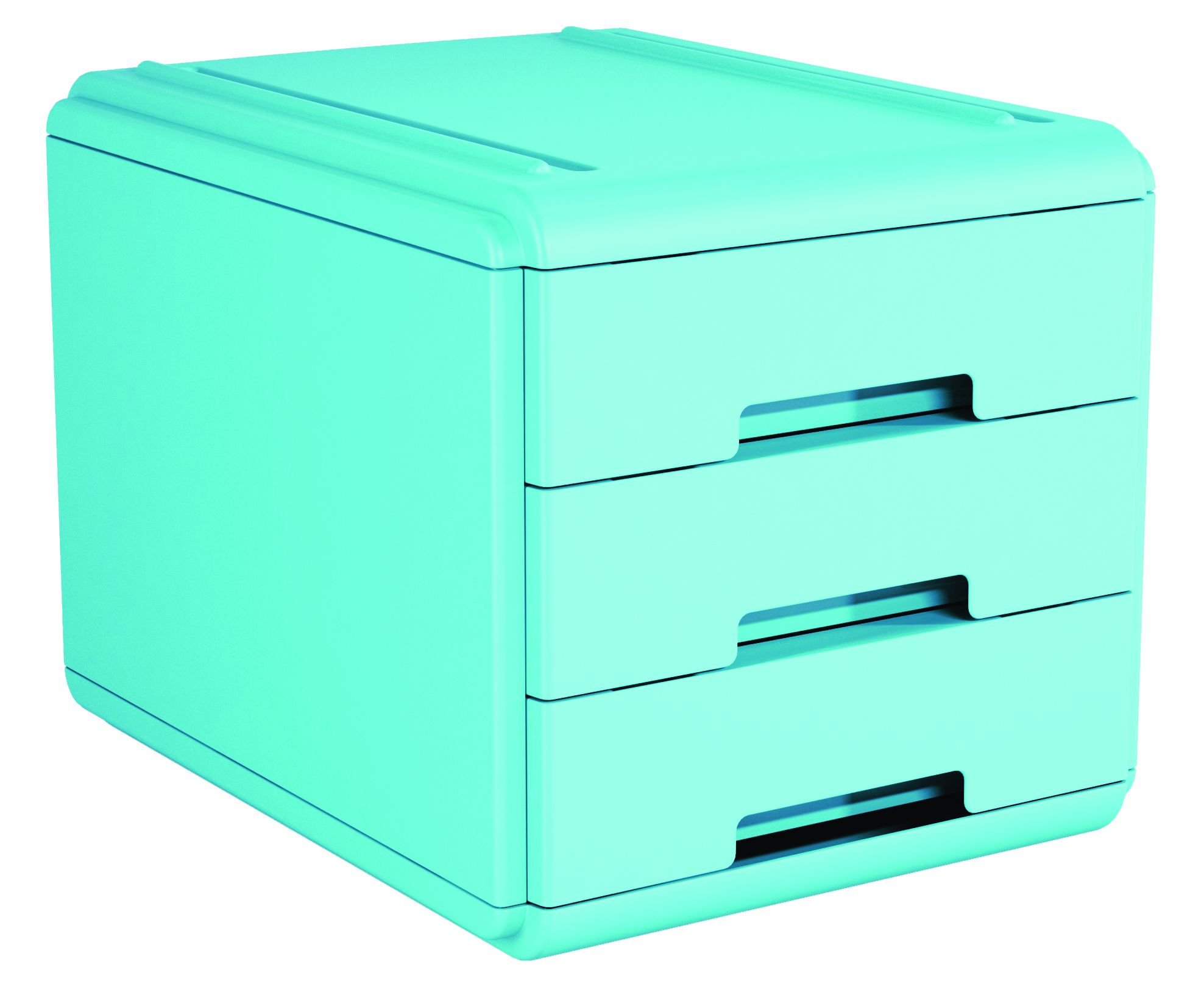 Mini Cassettiera Fai Da Te mini cassettiera 3 cass. azzurro arda 19p3pbl 8003438018809