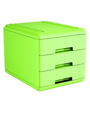 Mini cassettiera 3 cass. verde arda 19P3PV 8003438018816 19P3PV_77660 by Esselte