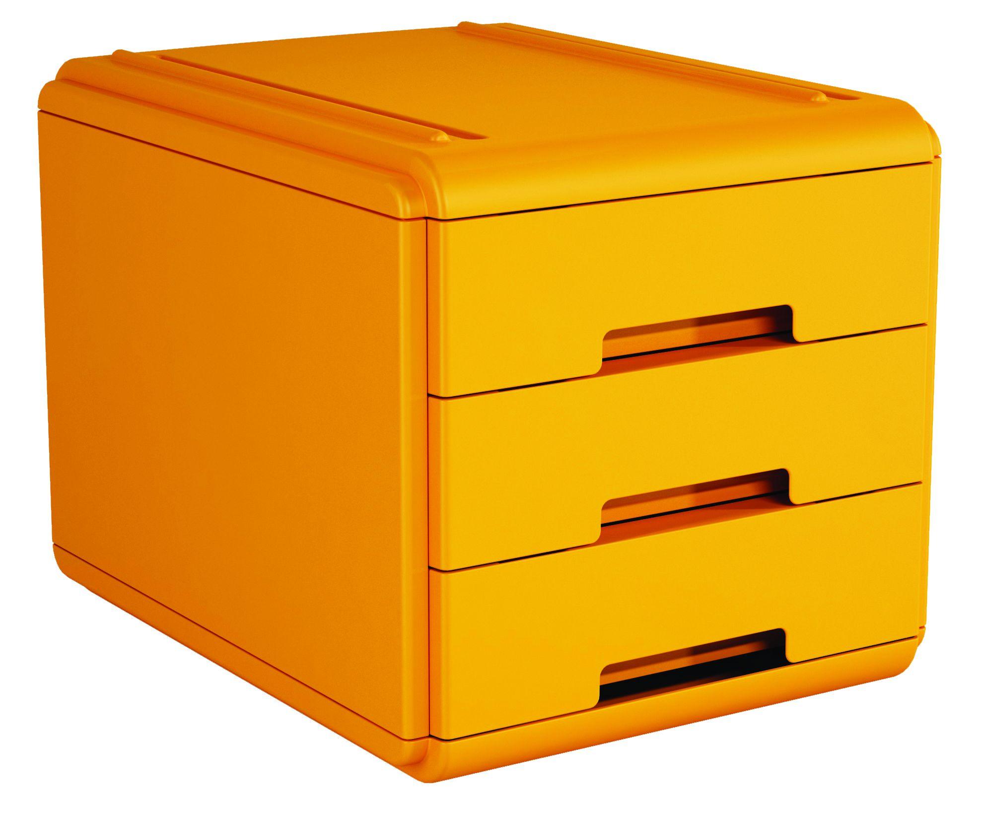 Mini Cassettiera Fai Da Te mini cassettiera 3 cass. arancio arda 19p3par 8003438018823