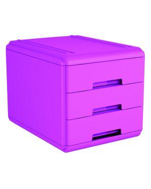 Mini cassettiera 3 cass. fuxia arda 19P3PFU_77662