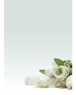 "Carta con stampa ""rosa bianca'"" a4 90gr 20fg decadry T036126 8410782121268 T036126_76227"