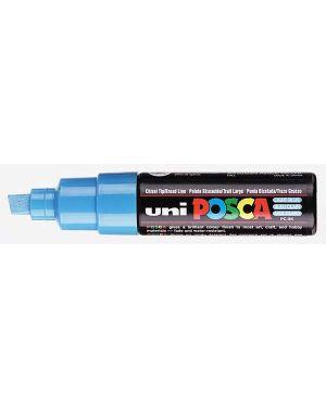 Marcatore uni posca pc8k p.scalpello 8mm azzurro uni mitsubishi M PC8K AZ 4902778916544 M PC8K AZ_77231 by Osama