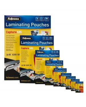 Scatola 100 pouches enhance80 superquick 80mic a4 fellowes 5440001  5440001_77622
