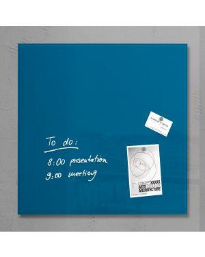 Lavagna magnetica in vetro 48x48cm blu petrolio artverum® sigel RGL252 4004360844058 RGL252_76977