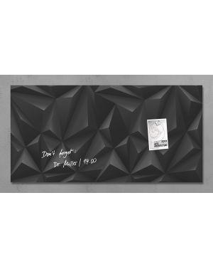 Lavagna magnetica in vetro 46x91cm diamante nero artverum® sigel RGL261  RGL261_76980