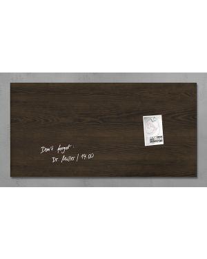 Lavagna magnetica in vetro 46x91cm legno scuro artverum® sigel RGL259  RGL259_76982