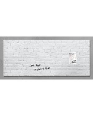 Lavagna magnetica in vetro 55x130cm pietra bianca artverum® sigel RGL244  RGL244_76984