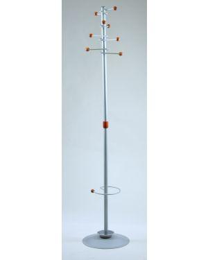Appendiabiti dallas 180cm a 8 posti c - portaombrelli grigio APUBR4-GR 8050043744043 APUBR4-GR_77076 by Unisit